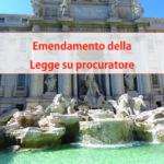 Emendamento della Legge su procuratore